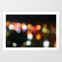 City Bokeh Art Print