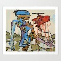 'Walking the Meat Cake!!' painting by Amos Duggan Art Print