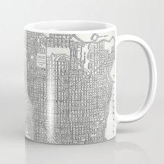 Vintage Seattle Map Mug
