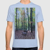 Autumnal Atmosphere Mens Fitted Tee Athletic Blue SMALL