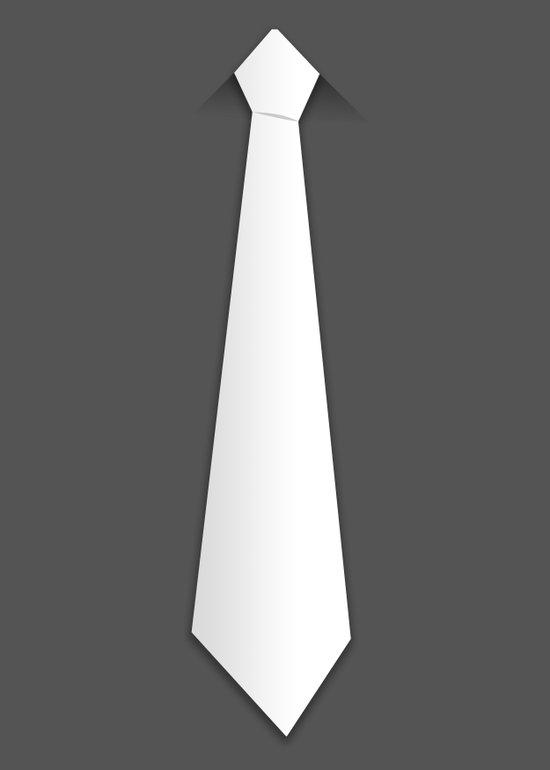 White tie Art Print