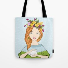 Spring girl Tote Bag