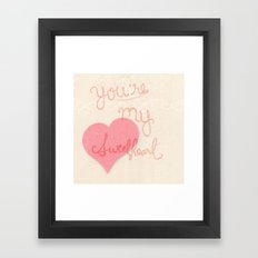Sweetheart // overlay Framed Art Print