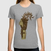 Antlers Womens Fitted Tee Athletic Grey SMALL