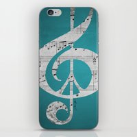 Music & Peace Aqua Sheet… iPhone & iPod Skin