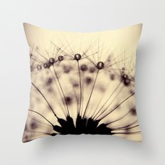 dandelion - droplets of mocha Throw Pillow