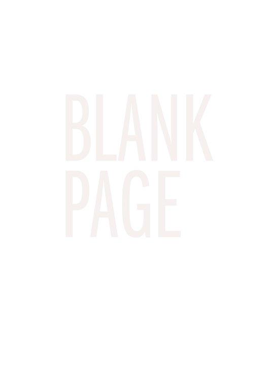 Blank Page Art Print