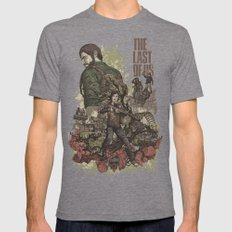 The Last Of Us Artwork Mens Fitted Tee Tri-Grey SMALL