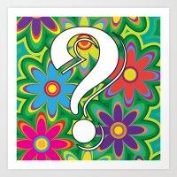Psychedelic Question Mar… Art Print