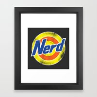 Nerd Framed Art Print