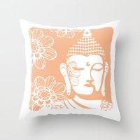 Peach Bliss Throw Pillow
