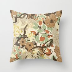 Flowers II Throw Pillow