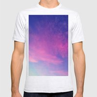 Sunrise series- Cloud of Pink Mens Fitted Tee Ash Grey SMALL