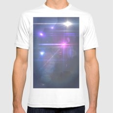 Space SMALL Mens Fitted Tee White