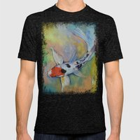 Maruten Butterfly Koi Mens Fitted Tee Tri-Black SMALL