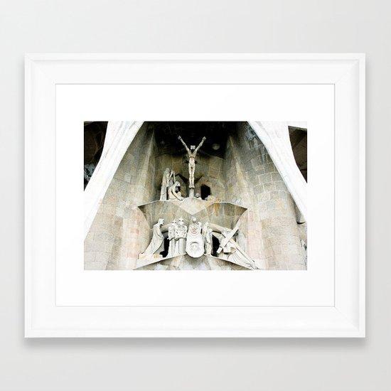 Gaudi's Calvary Framed Art Print