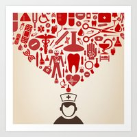 doctor Art Prints featuring Doctor by aleksander1