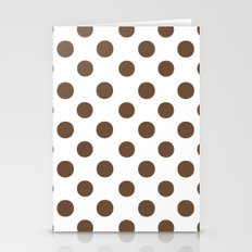 Polka Dots (Coffee/White) Stationery Cards