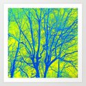 Green in Winter Art Print
