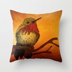 The Sunset Bird Throw Pillow