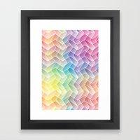 Zigzag & Zigzag Framed Art Print