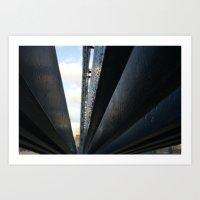 bridge the gap. Art Print