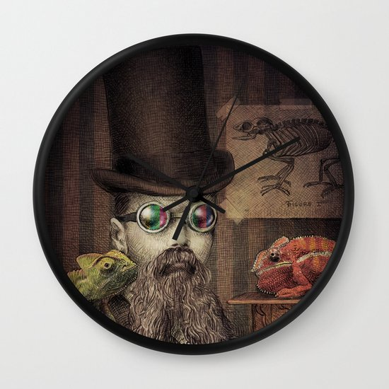 The Chameleon Collector Wall Clock