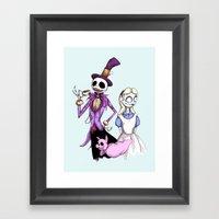 Nightmare In Wonderland Framed Art Print