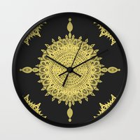 The Golden Sun Wall Clock