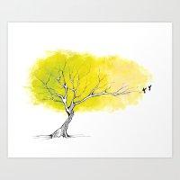 The Hummingbird Tree Art Print