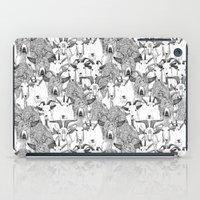 just goats black white iPad Case