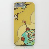 robot iPhone & iPod Cases featuring Robot by Willow Dawson