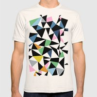 Abstraction Repeat #3 Mens Fitted Tee Natural SMALL
