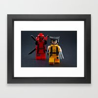 Not a Knight Framed Art Print