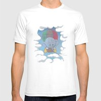 Elephant Balloon Mens Fitted Tee White SMALL