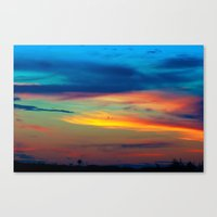 Sunset in Caleidoscope Canvas Print
