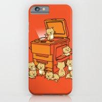orange iPhone & iPod Cases featuring The Original Copycat by Picomodi