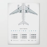 Arriving Late - Tour Poster Canvas Print