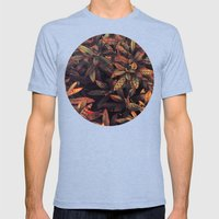 leaves evolved 5 Mens Fitted Tee Tri-Blue SMALL