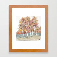 A Stand of Fall Framed Art Print