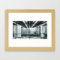 behind the glass Framed Art Print
