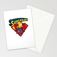Superbart: the Simpsons superheroes (Bart Simpson meets Superman) Stationery Cards