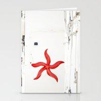 White&red Mediterráneo Stationery Cards