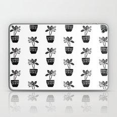 Rubber Plant linocut lino printmaking illustration black and white houseplant art decor dorm college Laptop & iPad Skin