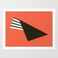 Fold On Orange Art Print