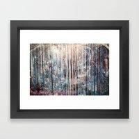 Blue Away Framed Art Print
