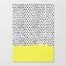 Polka dot rain dip Canvas Print