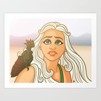 Mother Of Dragons Art Print