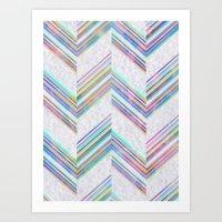 Lilli Chevron {light} Art Print