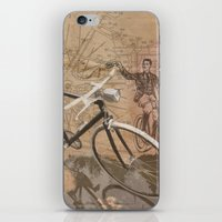 vintage bicycle hipster iPhone & iPod Skin